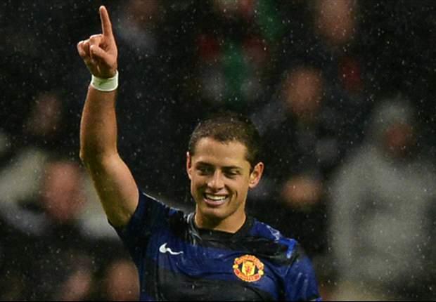 Chicharito cumplió 100 partidos con el Manchester United
