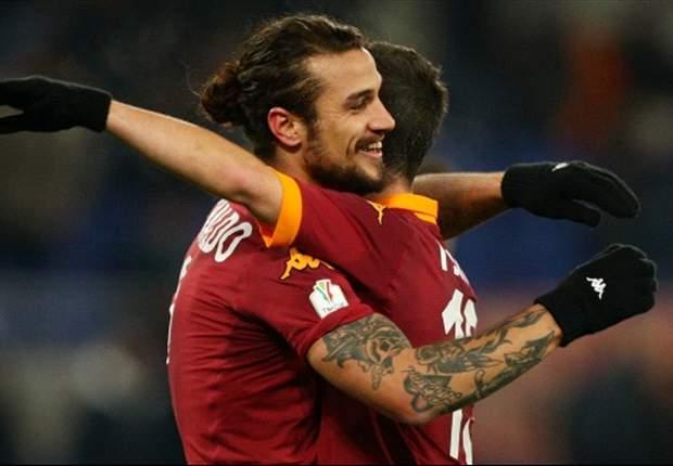 Daniel Osvaldo guia a la Roma a los cuartos de final de la Copa Italia