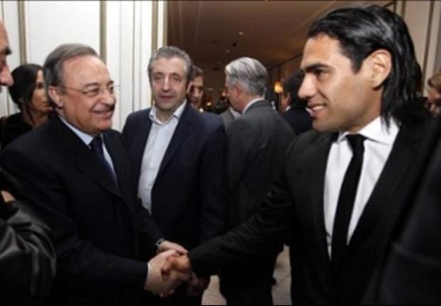 Gunakan Serbet, Florentino Perez Tanyakan Kesediaan Radamel Falcao Gabung Real Madrid