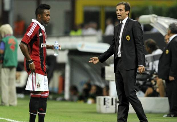 AC Milan boss Allegri hoping to keep Robinho at club