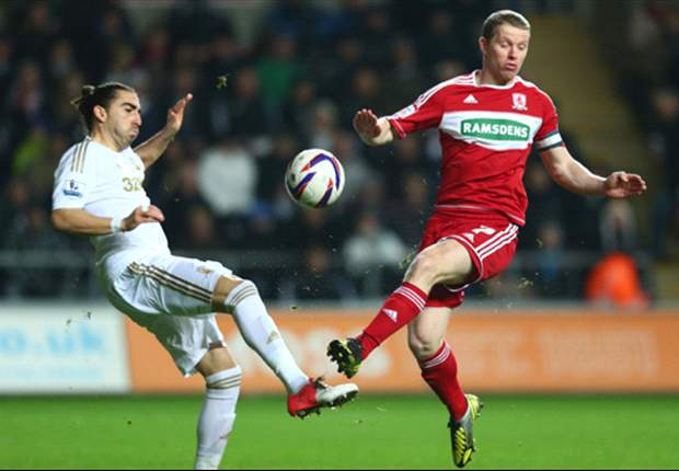 Swansea 1-0 Middlesbrough: Hines error puts Swans into last four