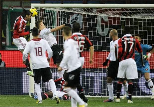 Milan 3-0 Reggina: Los rossoneri se citan con la Juventus