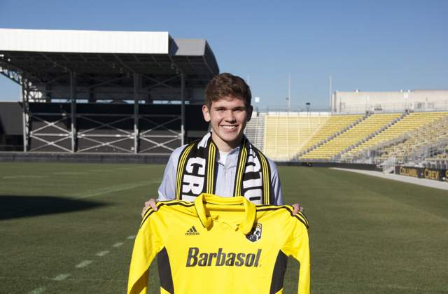 Columbus signs Trapp to Homegrown Player deal