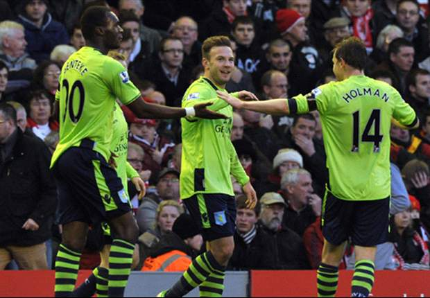 Liverpool 1-3 Aston Villa: Ruthless Benteke & Weimann end frustrated hosts' unbeaten run