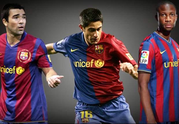 Deco, Sylvinho y Keita homenajeados en el Camp Nou