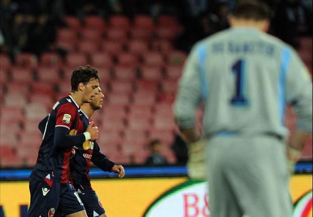 Bologna verrast Napoli in slotfase