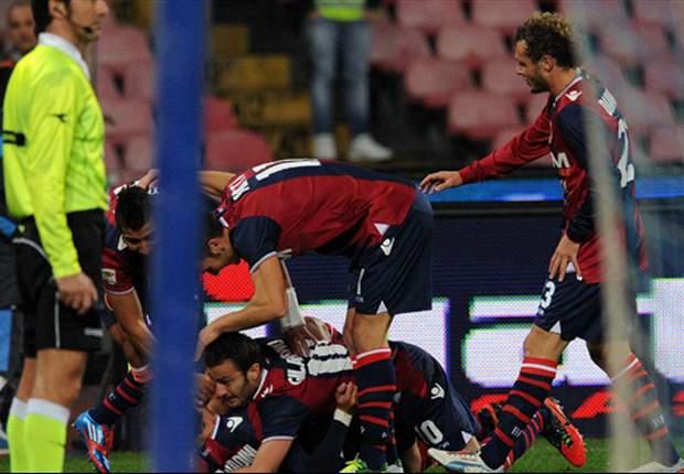 Cavani anotó, pero no puedo evitar la caída del Napoli