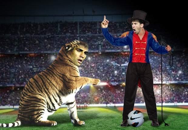Leo Messi supo domar al 'Tigre' en el Camp Nou