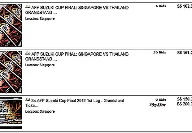 Scalpers tout AFF Suzuki Cup final tickets online