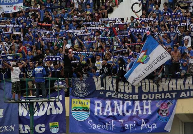 Kepolisian melarang fans Persib memakai atribut tim saat mendukung Maung Bandung