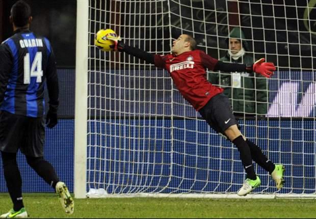 'Spider'-Palacio ejerció de guardameta del Inter durante 15 minutos