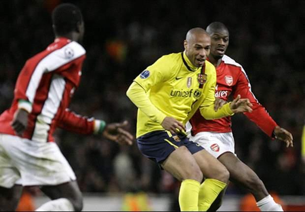 Henry volta a Europa e treina no Arsenal