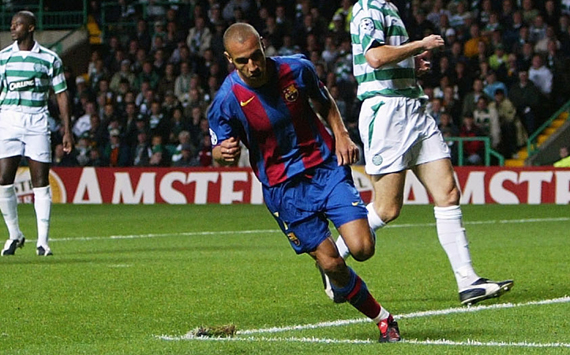 Image result for henrik larsson barcelona celtic