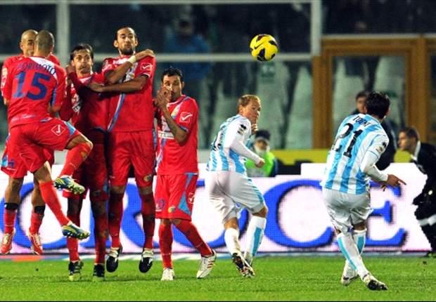 Pescara in blessuretijd langs Catania