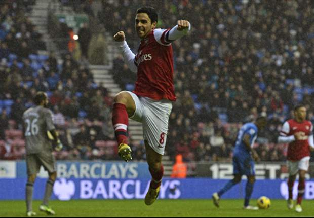 Wigan 0-1 Arsenal: Arteta penalty keeps Gunners in Champions League picture