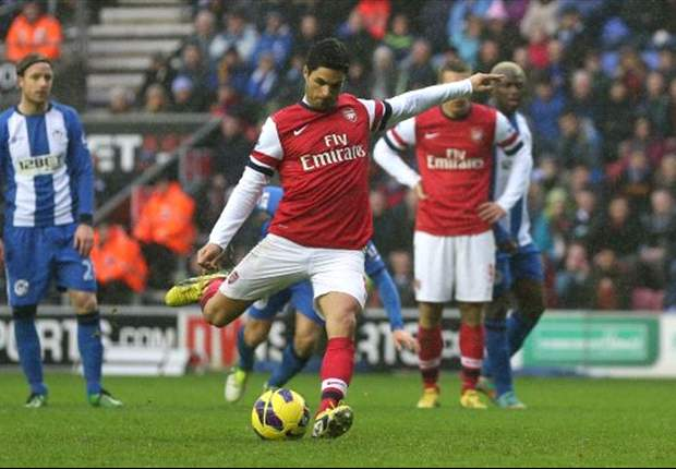 Wenger hails Arteta character after penalty recovery