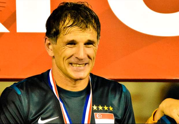 Duric with his first AFF Suzuki Cup winners' medal in 2012.