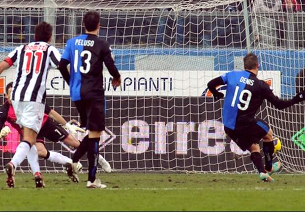 Germán Denis anotó en el empate de Atalanta ante Udinese