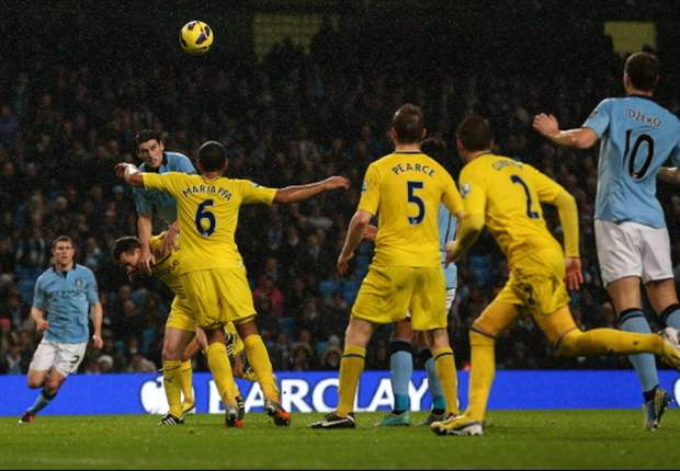 Manchester City 1-0 Reading: Barry grabs dramatic late win for champions