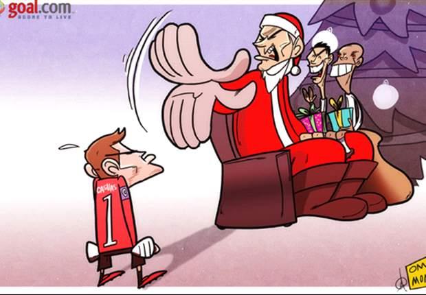 Un malvado Papá Noel deja a Casillas en el frío