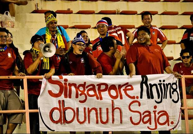 Offensive banner aimed at Singapore during Suzuki Cup final second leg stirs debate