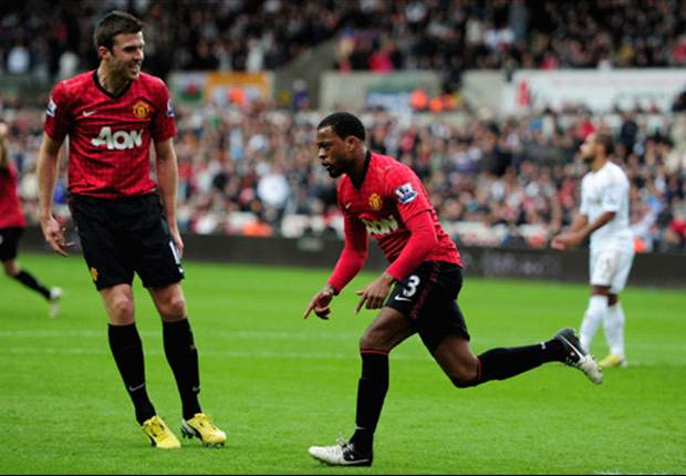 'Ferguson may sack the whole Manchester United team if we let City catch us,' laughs Evra