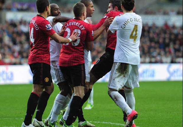 Sir Alex Ferguson says Van Persie 'could have been killed,' calls for action against Swansea's Williams
