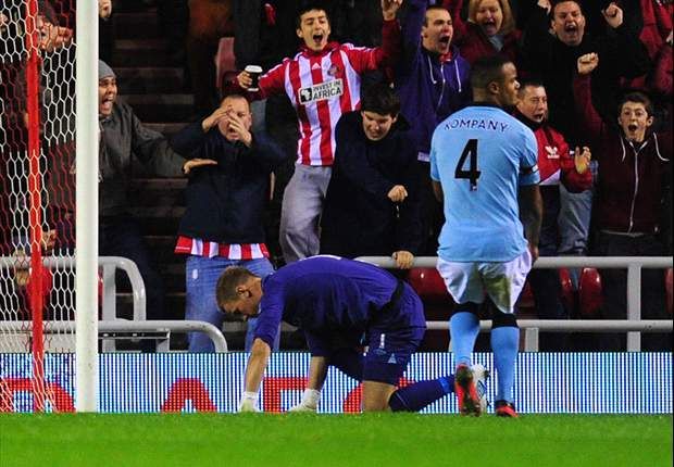 Sunderland 1-0 Manchester City: Adam Johnson hits winner to punish former club