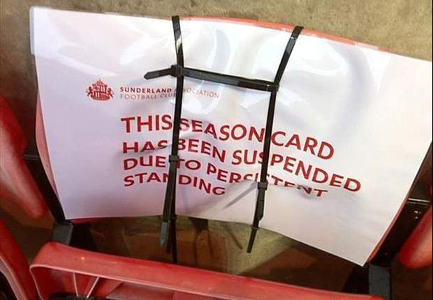 Sunderland ban persistent standing fans at the Stadium of Light