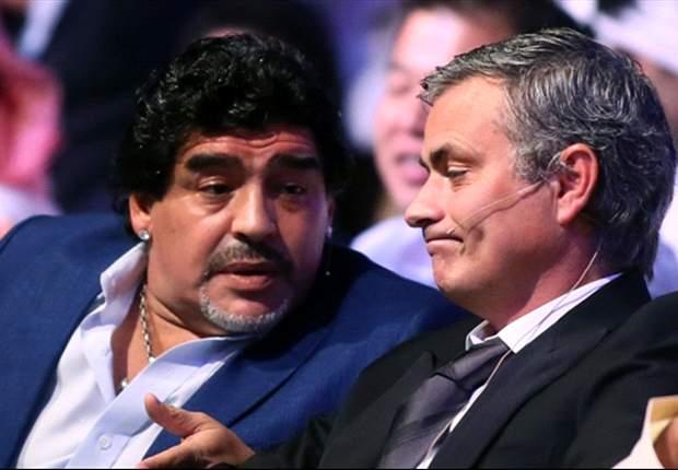 Maradona elogia Mourinho no trato com os jogadores