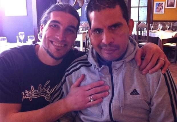 José Manuel Pinto visitó a su amigo Fernando Cáceres en Zaragoza
