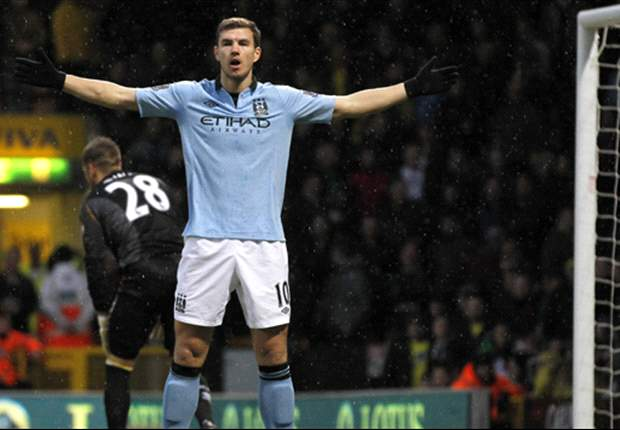 Dzeko surprised to start ahead of Tevez against Norwich City