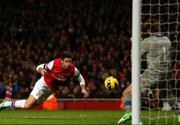 TEAM NEWS: Giroud benched as Diaby starts for Arsenal's clash with Manchester City