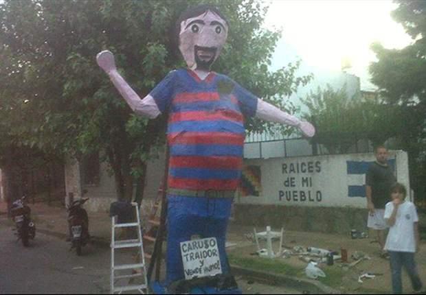 Los hinchas de Quilmes no olvidan a Caruso