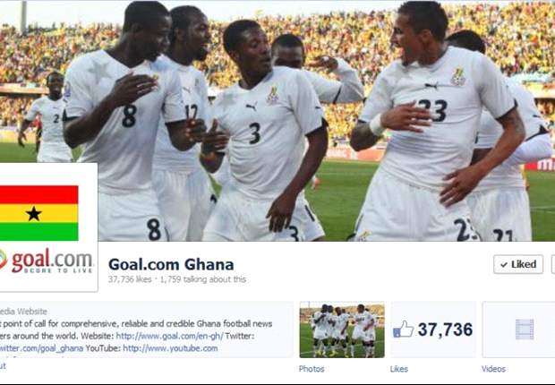 Goal.com Ghana ends 2012 with 37,700 likes on Facebook
