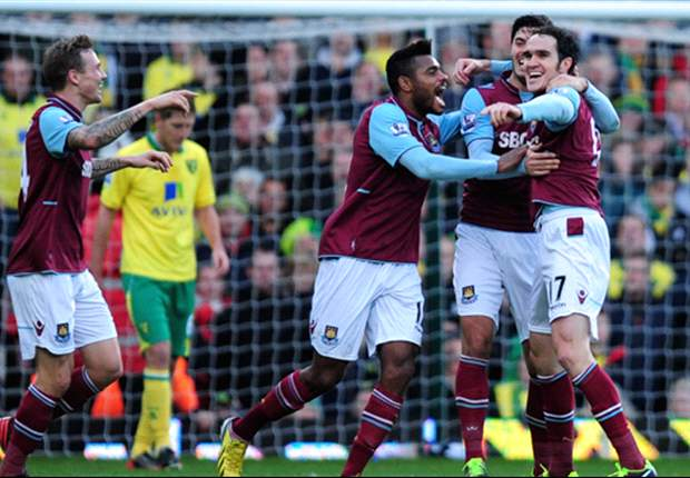 West Ham 2-1 Norwich City: Noble & O'Brien secure Hammers' first win in five
