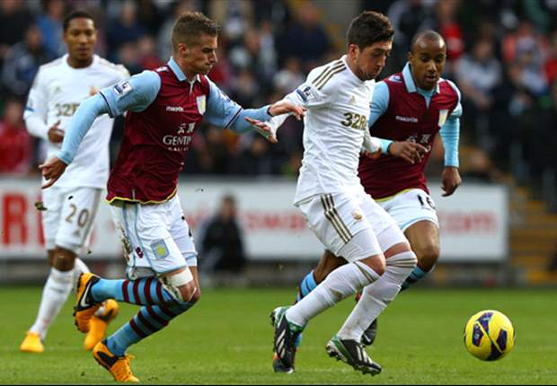 Swansea 2-2 Aston Villa: Late Graham leveler piles more misery on Lambert