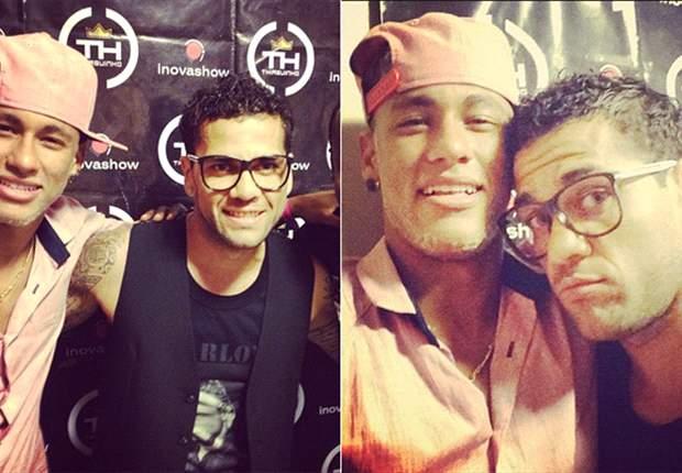 Dani Alves y Neymar se divierten en el concierto de Thiaguinho