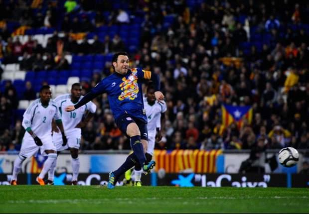 Catalunya 1-1 Nigeria: El empate no frenó la fiesta en la despedida de Cruyff