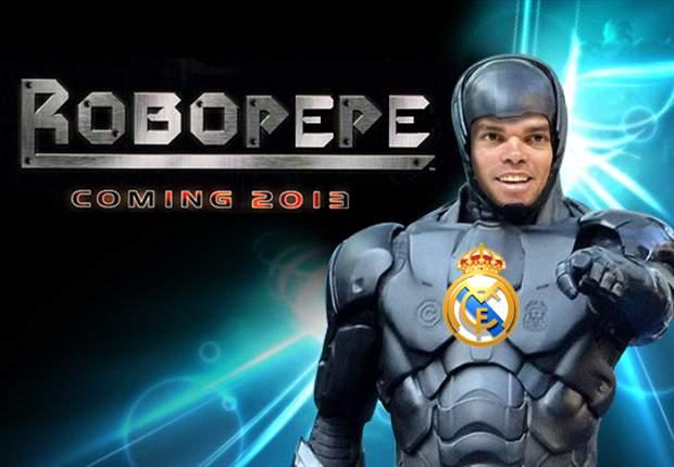 Pepe se convierte en el Robocop del fútbol