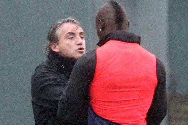 Todas las imágenes de la pelea entre Mancini y Balotelli