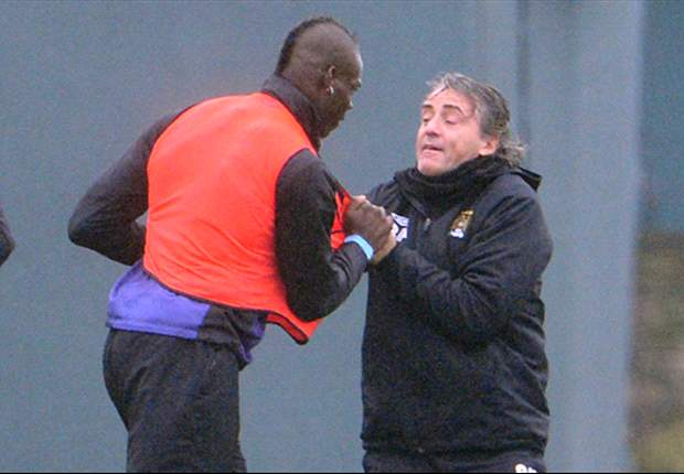 Balotelli and Mancini involved in furious training ground bust-up