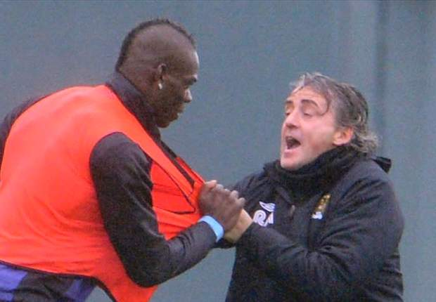'I would give Balotelli 100 chances' - Mancini plays down clash with Manchester City striker