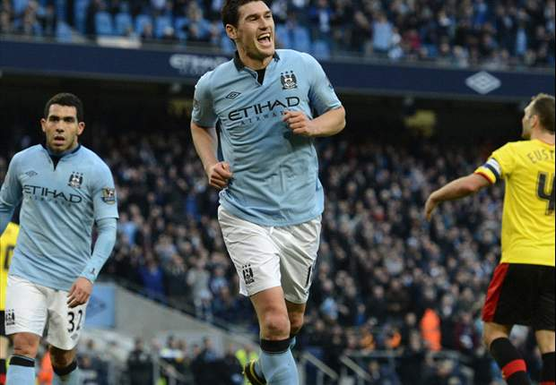 Manchester City 3-0 Watford: Tevez, Barry & Lopes see hosts progress with ease