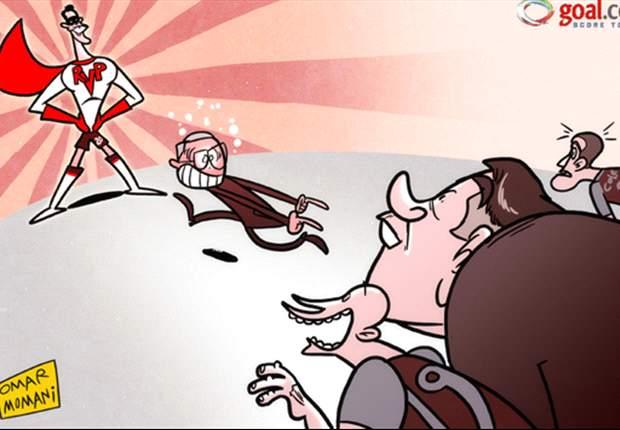 Súper Van Persie rescata al Manchester United en el último momento