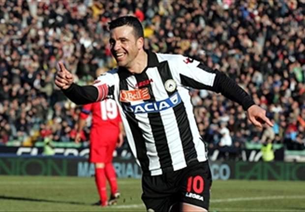 Di Natale leidt Udinese langs Inter