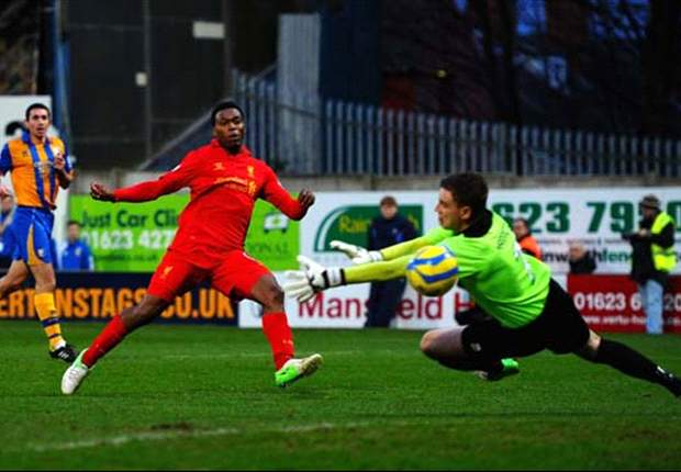 Mansfield 1-2 Liverpool: Sturridge debut goal and controversial Suarez strike edge Reds through in FA Cup