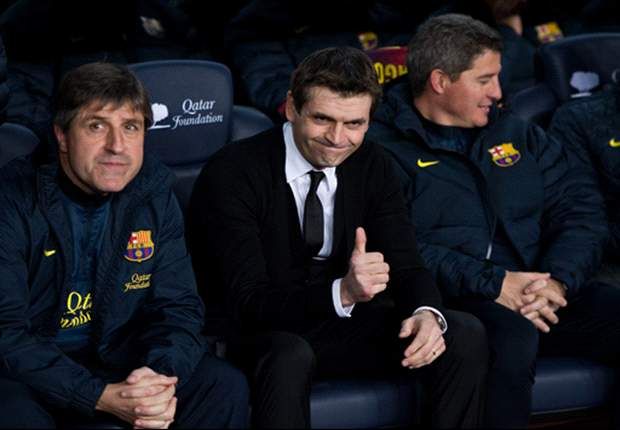 Vilanova will not be on Barcelona bench for Cordoba, says Roura