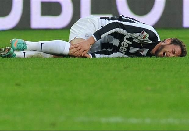 Marchisio de molho depois de levar uma pancada contra a Lazio