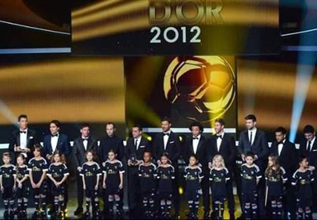 Overzicht alle winnaars Ballon d'Or